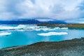 View of Jokulsarlon a large glacial lake Royalty Free Stock Photo