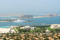 View on jumeirah palm man made island dubai uae Stock Photo