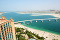 The view on jumeirah palm man made island dubai uae Royalty Free Stock Image