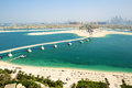 View on jumeirah palm man made island dubai uae Stock Photography