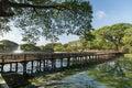 View of Kandawgyi Lake in Yangon Royalty Free Stock Photo