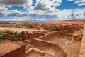 View from kasbah ait benhaddou morroco Royalty Free Stock Images