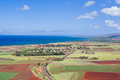 View on kauai island from the air scenic Stock Images