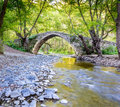 A view kelefos bridge cyprus the old medieva venetian stone or tzelefos in the troodos mountains Stock Photo