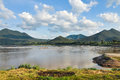 View of Khong river Stock Photo