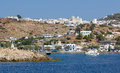 View of Kimolos island, Cyclades, Greece Royalty Free Stock Image