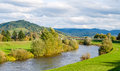View of Kinzig river in the Black Forest Royalty Free Stock Photography