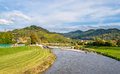 View of kinzig river in the black forest mountains germany ba baden wurttemberg Stock Photos