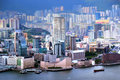 View of kowloon peninsula in hong kong the is a that forms the southern part the main landmass the territory Royalty Free Stock Photography