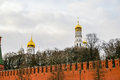 View in kremlin castle in moscow russia Stock Photos