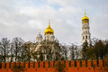 View in kremlin castle in moscow russia Stock Photography