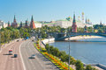 View of the Kremlin from the Patriarchal Bridge Stock Image