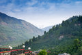 View of Kulu valley with Himalaya range in Royalty Free Stock Photo