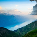 View of Lake Brienz Stock Photo