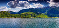 View of lake lugano switzerland alps Stock Photo