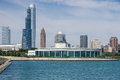 View from the lake on Shedd Aquarium Royalty Free Stock Photo