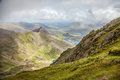 View of lake from snowdon Royalty Free Stock Photo