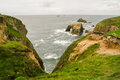 View of Lands End rocks, Cornwall Royalty Free Stock Photo