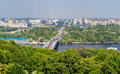 View of left bank of dnieper in kiev ukraine Royalty Free Stock Photography