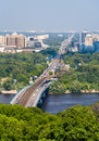 View of left bank of dnieper in kiev ukraine Royalty Free Stock Photos