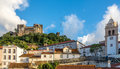 View at the Leiria Castle and Sineira tower - Portugal Royalty Free Stock Photo
