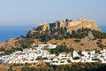 View at lindos rhodes island greece Royalty Free Stock Photos