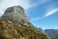 View of lions head peak from the base the mountain cape town south africa Stock Photos