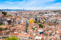 View of lisbon from miradouro da graca viewpoint in lisbon por portugal Royalty Free Stock Photo