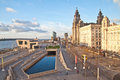 View of liverpool waterfront Royalty Free Stock Photo