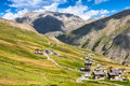 View of Livigno valley in summer Royalty Free Stock Photo