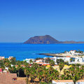 View lobos island corralejo fuerteventura canary islands spain Royalty Free Stock Photo