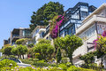 View of lombard street the crookedest in the world san francisco california Stock Photo