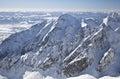 View from Lomnicky stit - peak in High Tatras