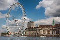 View of the London Eye. Royalty Free Stock Photo
