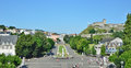 View of Lourdes with the Rosary square Royalty Free Stock Photo