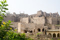 View from the lower levels of the ruins of golcanda fort hyderabad india built in medieval times as a bastion for mughal rulers Royalty Free Stock Photography