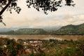 The view of Luang Prabang (Laos) Royalty Free Stock Photo
