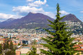 View of Lugano town in Switzerland Royalty Free Stock Photo