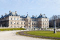 View luxembourg palace paris early spring Stock Image