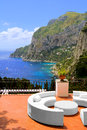 View luxurious terrace island capri italy Royalty Free Stock Image