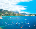 View of luxury resort and bay, french riviera Royalty Free Stock Images