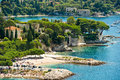 View of luxury resort and bay of Villefranche Stock Photo