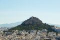 View of lycabettus hill from acropolis athens greece Stock Image