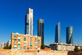 View of Madrid with Cuatro Torres Business Area