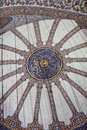 View main dome of Blue mosque Royalty Free Stock Photo