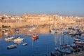 View on Malta bay between Kalkara and Birgu at  morning Royalty Free Stock Photo