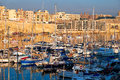 View on Malta bay between Kalkara and Birgu at  morning Royalty Free Stock Photo