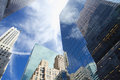 View of Manhattan skyscrapers Royalty Free Stock Photo