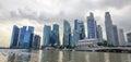 View of marina bays in singapore Royalty Free Stock Photos