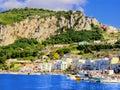 View marina grande harbor capri italy Stock Photos